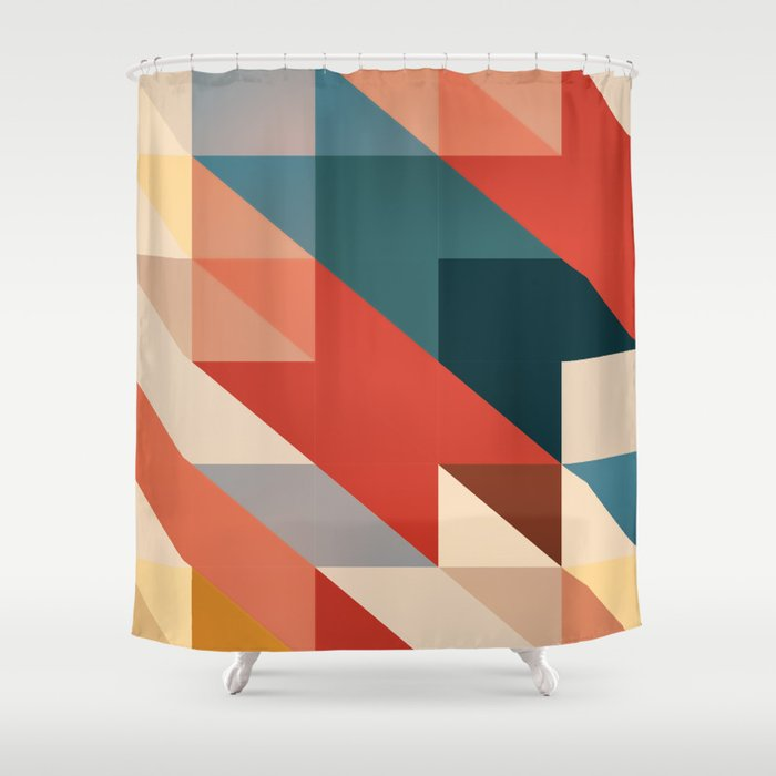 ABSTRACT 9D Shower Curtain