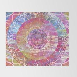 Glitch Mandala Throw Blanket