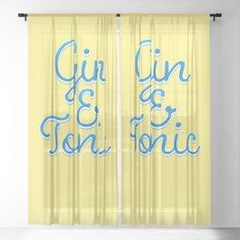Gin & Tonic Sheer Curtain