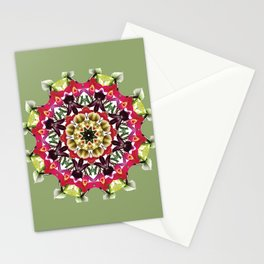 Tropical ladyslipper orchid mandala 2 Stationery Cards