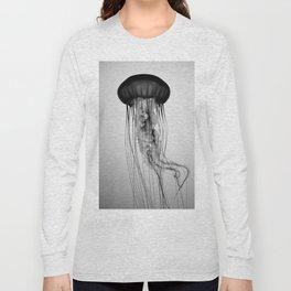 Jellyfish Black and White Long Sleeve T-shirt