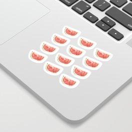 Watercolor Watermelon Slices Pattern Sticker