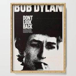 Vintage 1967 Don't Look Back Bob Dylan Movie Poster Serving Tray