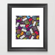 So Many Colorful Books... Framed Art Print
