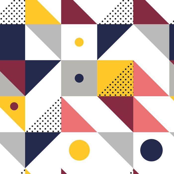 Geometric shapes retro pattern Leggings