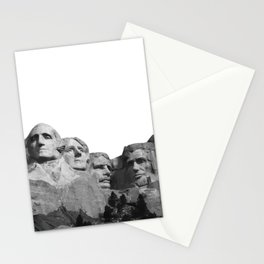 Mount Rushmore National Memorial South Dakota Presidents Faces Graphic Design Illustration Stationery Cards