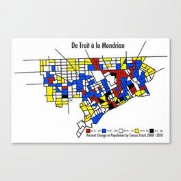 De Troit a la Mondrian Canvas Print