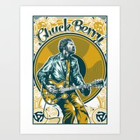 Chuck Berry All Hail Rock N Roll Art Print