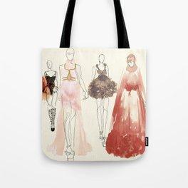 Alexander McQueen Fashion Illustrations 2013 Tote Bag
