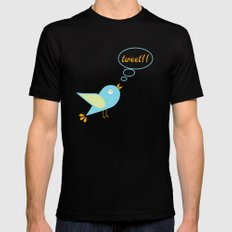 Cute tweet Black MEDIUM Mens Fitted Tee