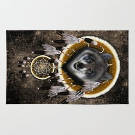Indian Native Gray Wolf Dreamcatcher iPhone 4 5 6 7, ipod, ipad, pillow case and tshirt Rug