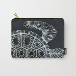 Inverse Turtle Graphic Print Carry-All Pouch