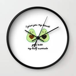 Couple of avocados Wall Clock