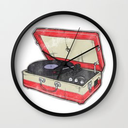 Vintage Record Player Wall Clock
