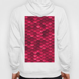 Ruby Red Mermaid Tail Scales Hoody