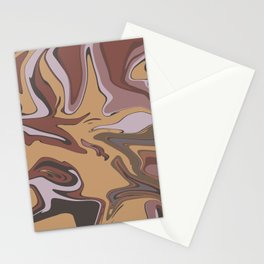 Marble Brown Color  Stationery Cards