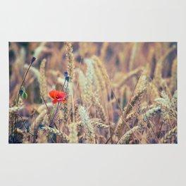 Wild Poppy in the Wheat Field Rug
