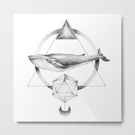 GEOMETRIC WHALE Metal Print