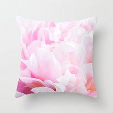 CREAMY PINK FLOWER Throw Pillow
