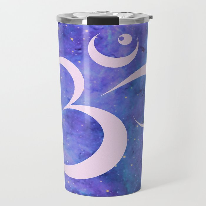 Om Mandala Purple Lavender Blue Galaxy Travel Mug