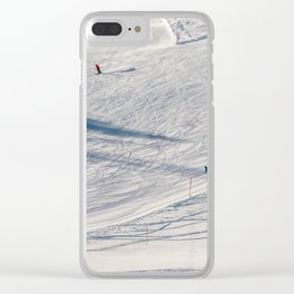 Skiers. Clear iPhone Case