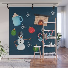 Winter Decoration Wall Mural
