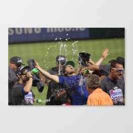Clinching the AL West Canvas Print