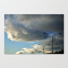 Birds and Poles Canvas Print