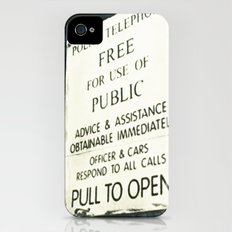 Doctor Who: PULL TO OPEN! Slim Case iPhone (4, 4s)