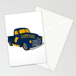 West Virginia Country Roads Antique Truck Vintage WV Map Gifts Stationery Cards