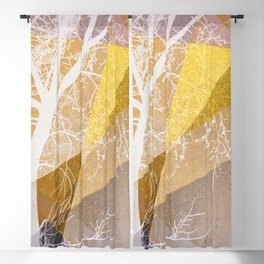 TREE INTO GEOMETRIC WOLRD NO4 Blackout Curtain