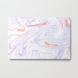 Purple and Pink Marble Texture White Marble Metal Print