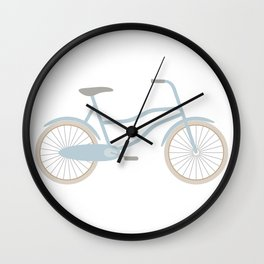 Blue Retro Bicycle Wall Clock