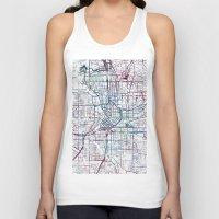 atlanta Tank Tops featuring Atlanta map by MapMapMaps.Watercolors