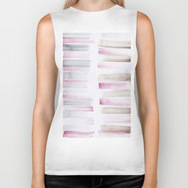 25  | 181101 Watercolour Palette Abstract Art | Lines | Stripes | Biker Tank