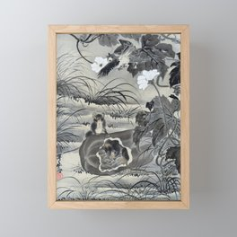 Kawanabe Kyosai - Mouse In A Melon - Digital Remastered Edition Framed Mini Art Print