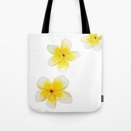 Common Frangipani watercolor Tote Bag