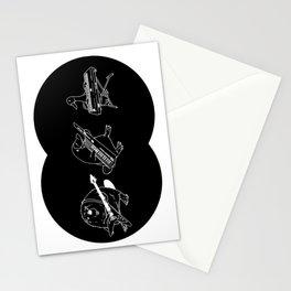 Keytar Platypus Venn Diagram Black and White Stationery Cards
