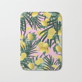 Summer Lemon Twist Jungle #6 #tropical #decor #art #society6 Bath Mat