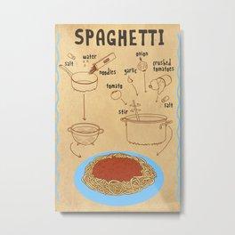 HOW TO: SPAGHETTI Metal Print