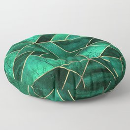 Abstract Nature - Emerald Green Floor Pillow
