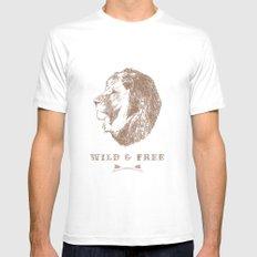 WILD & FREE MEDIUM Mens Fitted Tee White