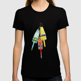 Lobster buoys watercolor T-shirt