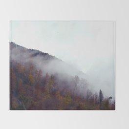 Autumn Trees Throw Blanket