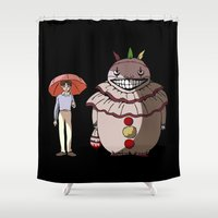 ahs Shower Curtains featuring Twisty and Dandy by Huebucket