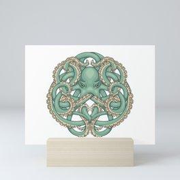 Octopus Emblem Green Mini Art Print