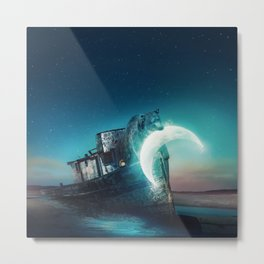 Who stole the moon? Metal Print