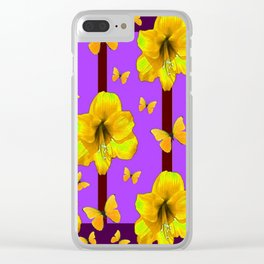 FOR THE LOVE OF BUTTERFLIES PURPLE ART Clear iPhone Case