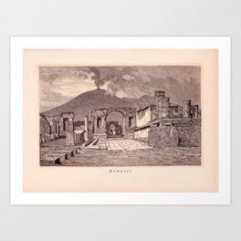 Pompeji Art Print