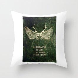 Dream within a Dream Throw Pillow